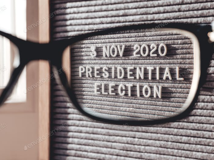 Announcement of USA Presidential Election at 3rd November 2020. Call to go to the vote. Closer look