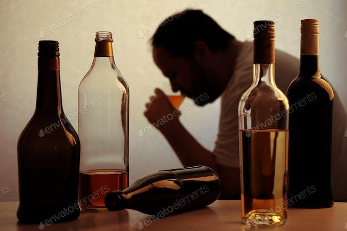 alcohol addiction concept