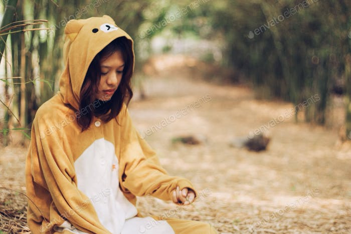 Kostüm Mädchen Bär Kostüm niedlich