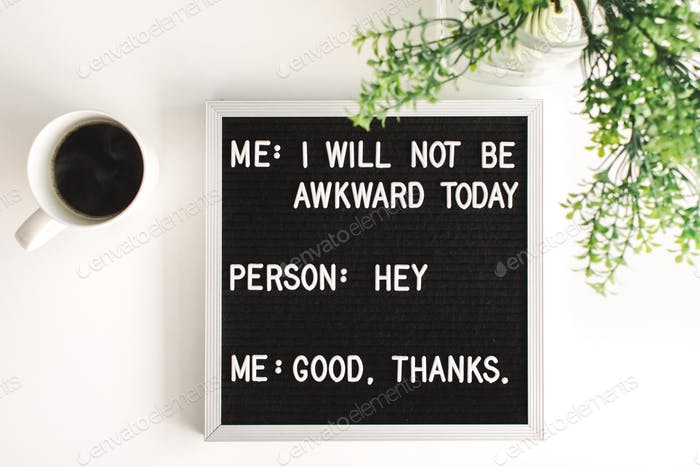 Humorous letter board