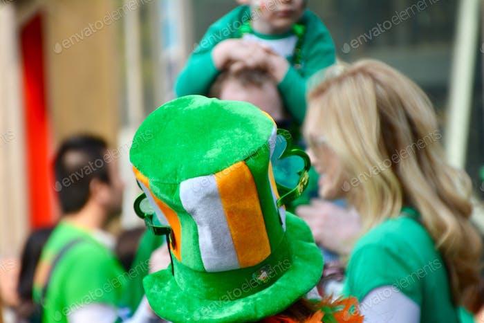 Irische Farbe Hut