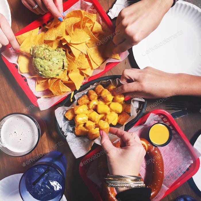Almuerzo con amigos