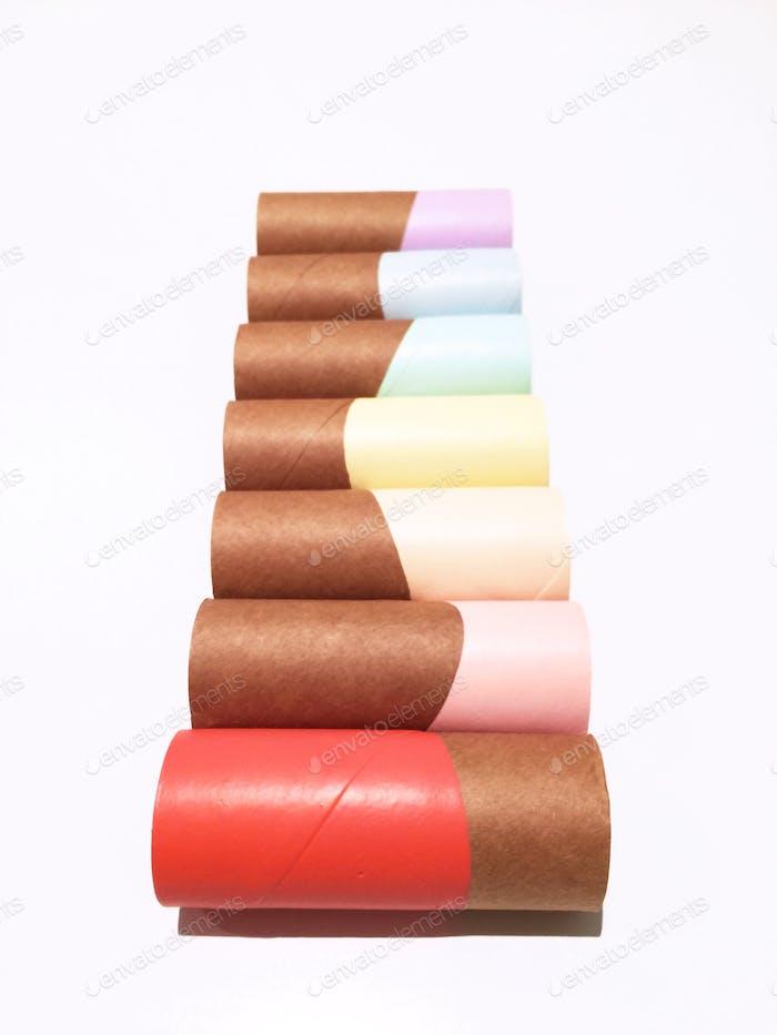 Der Beweis, dass alles schön in Pastell aussehen kann, sogar Toilettenpapierrollen...  🍉🐷🍊🍋☘🐳🍇