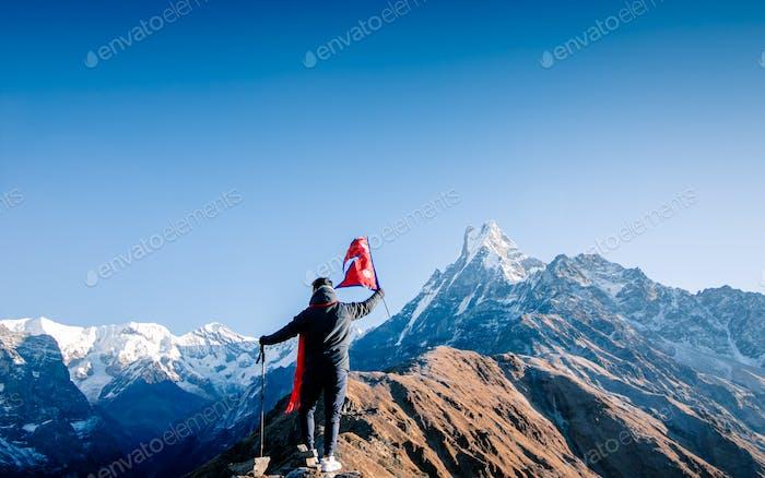 Abenteuer-Trekkingroute Mardi Himal Trek, Kaski, Nepal.