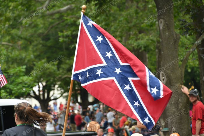 Hate Speech or Southern Pride? A Rebel Flag flying in the back of a pickup truck