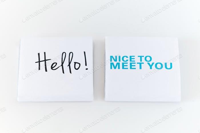 Hallo! Schön dich kennen zu lernen! - Schokolade 🍫