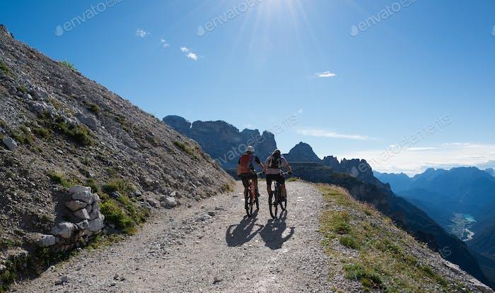 Beautiful mountain panorama in Tre Cime di Lavaredo in Dolomites, Italy