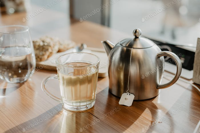 A cup of tea in a daytime