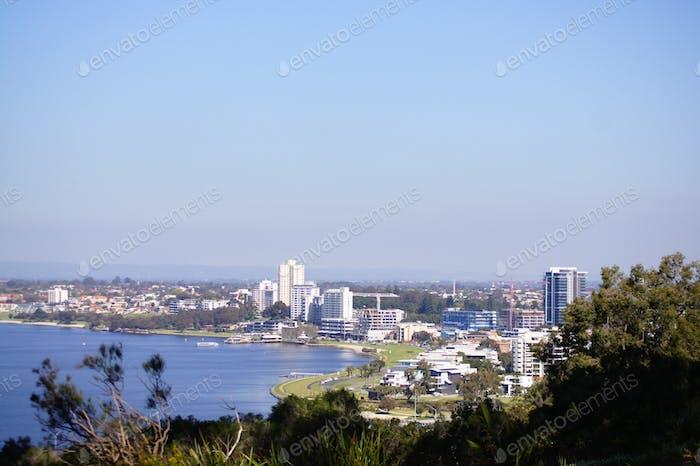 View on Perth city, Australia