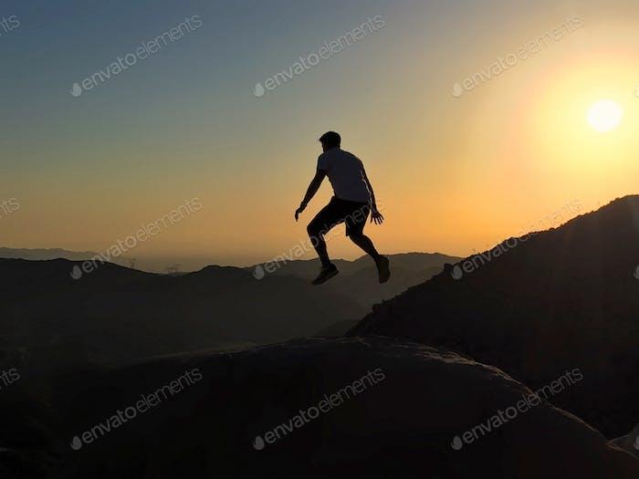 Levitating at sunrise in the California desert. 🎩🐰
