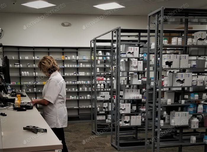Healthcare and Medicine! Pharmaceuticals! Prescription medications at the local retail pharmacy