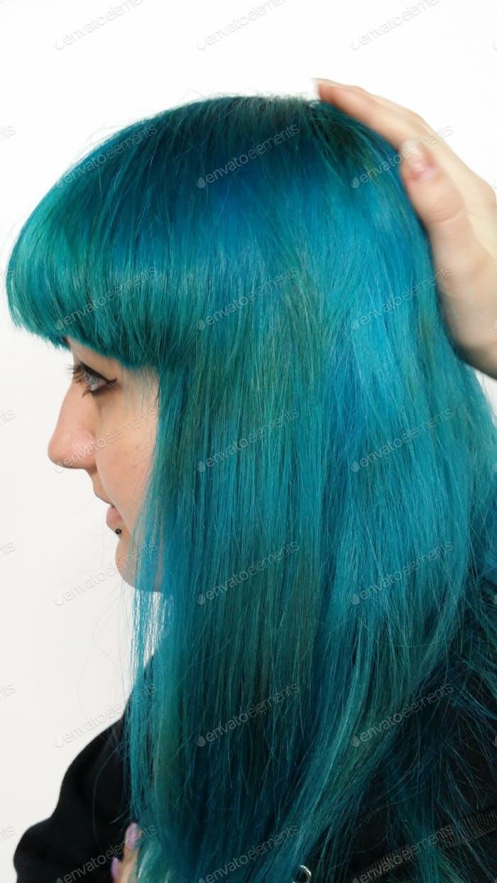 Blue hair: my daughter