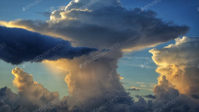 Cumulus Clouds Forming At Sunrise