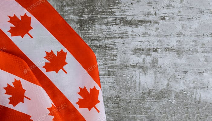 Canadian flag with word August Civic Holiday Happy Canada Day celebration