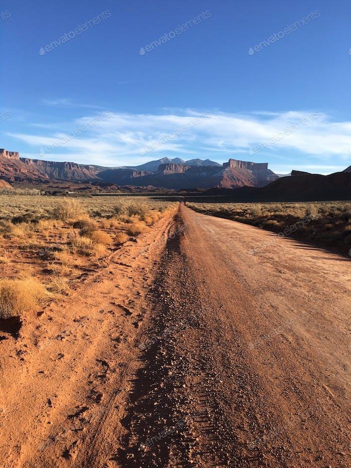 Ranch road in Moab, Utah