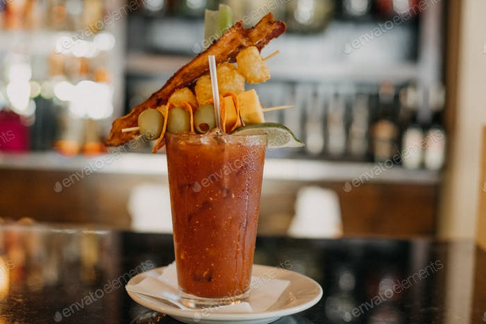 Bloody Mary From Tick Tock Lounge located in Indianapolis Indiana