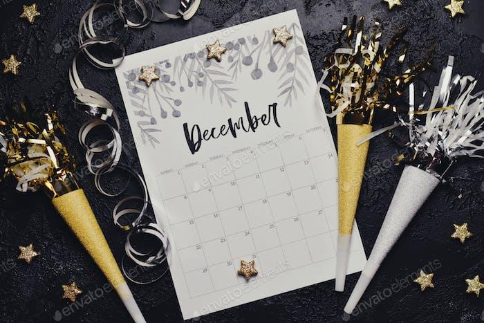 Kalender flach legen - Dezember