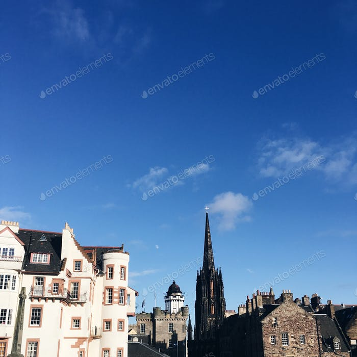 Blue skies in Edinburgh