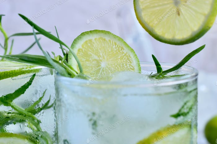 Drink with a lime
