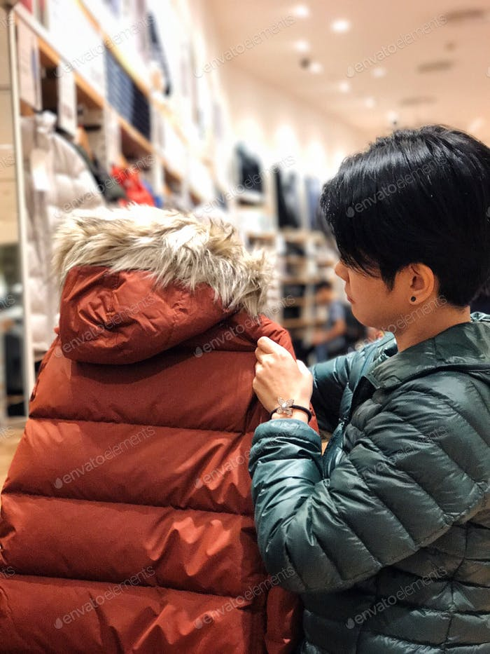 People shopping coat winter