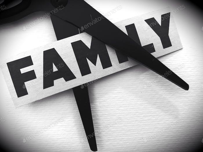 Familie auseinander gerissen
