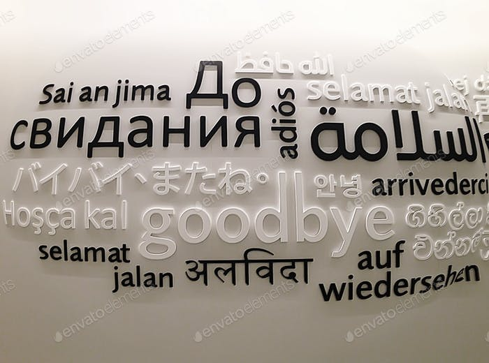 """""""Goodbye"""" in different languages written on the wall   🔥🔥🔥NOMINATED ALREADY 🔥🔥🔥"""