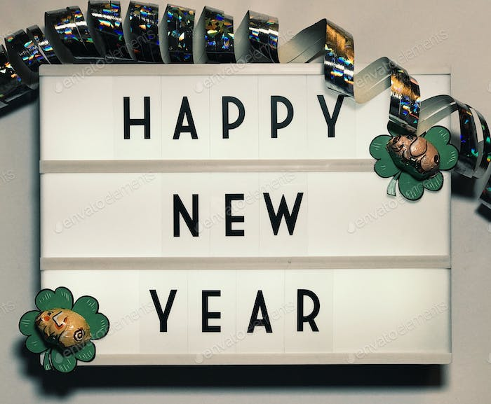 Happy new year on message board