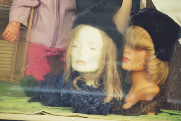 Mannequins in a window