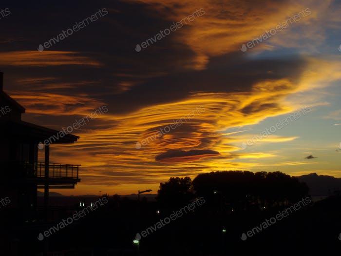 UFO Wolken