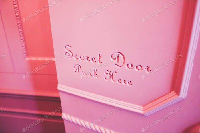 Pink Secret Door Push To Open