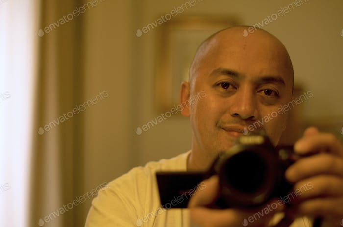 Selfie with my buddy Nikon D5100 :) such a very useful friend for my photography life :)