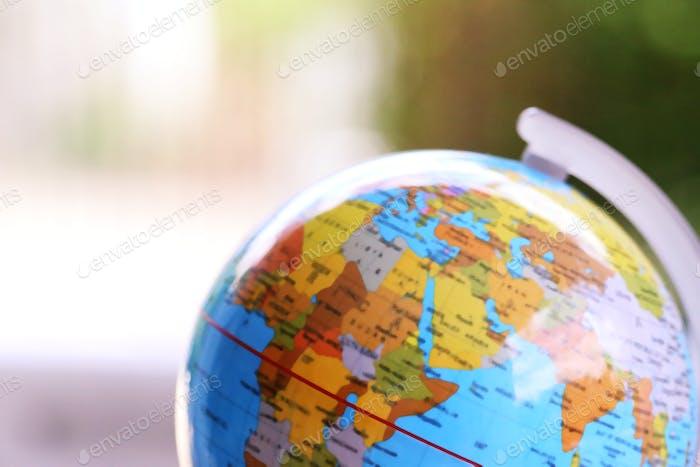 Macro de primer plano del fondo de desenfoque de globo global