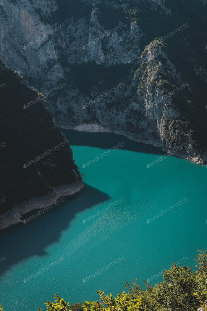 Green water in the mountains