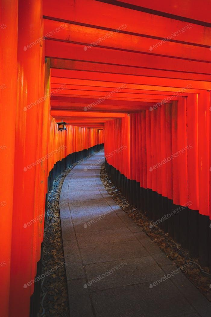 The famous landmark in Kyoto, Japan