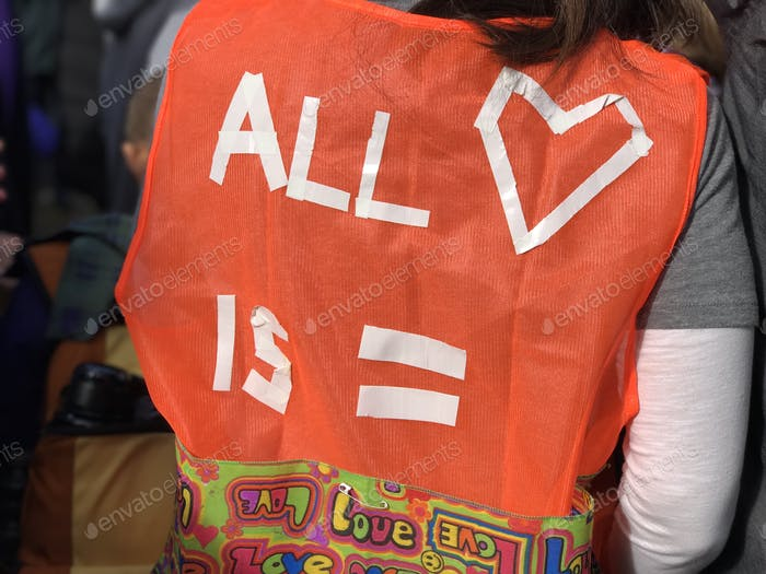 Vest at equality march