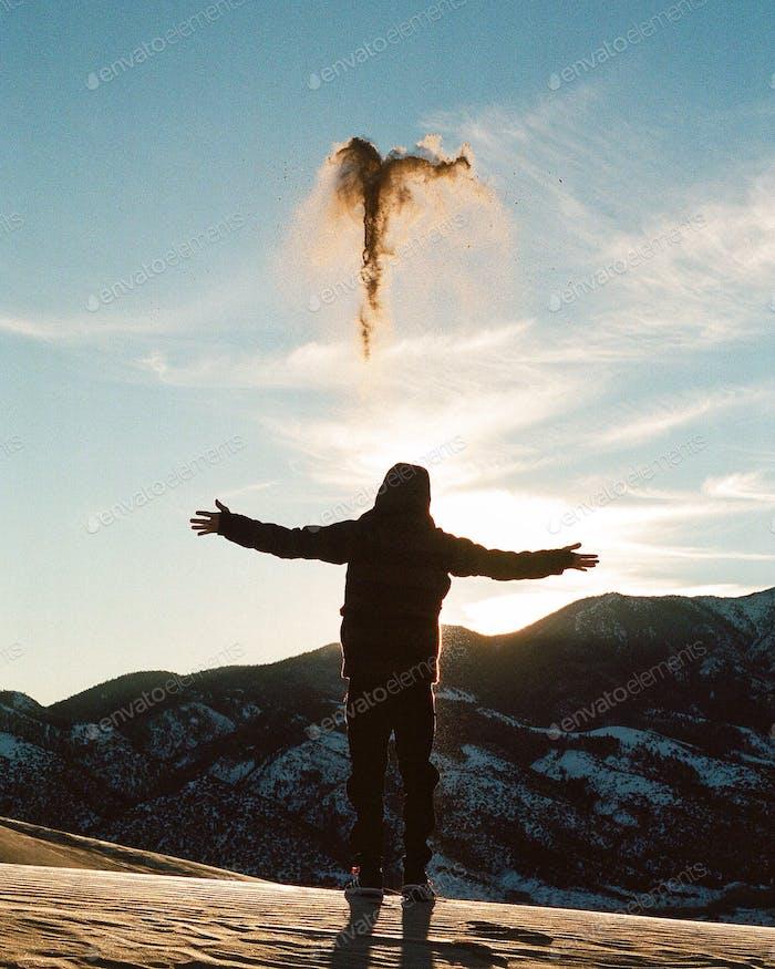 Los ángeles de arena en Colorado
