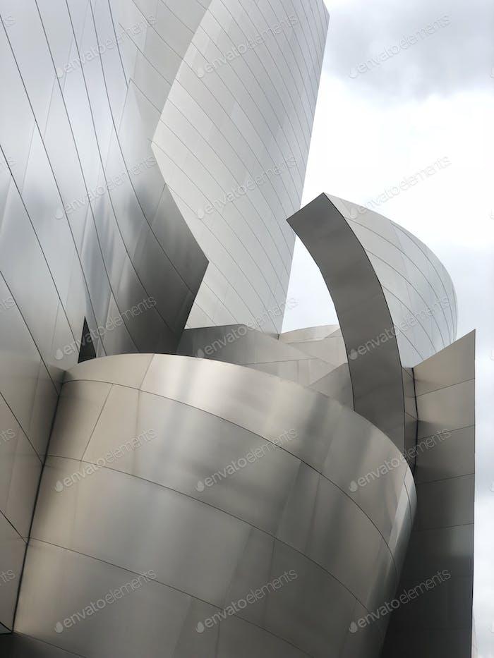Disney opera house Los Angeles architecture sculpture public art