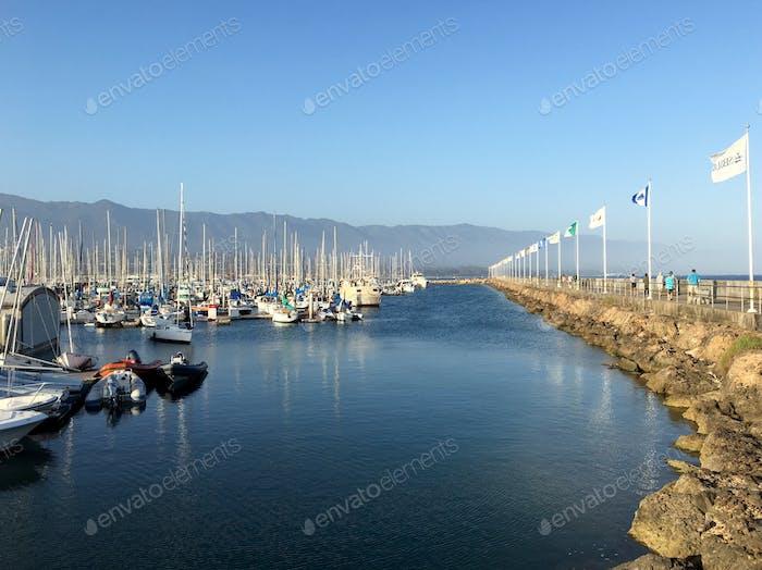 Harbor in Santa Barbara California