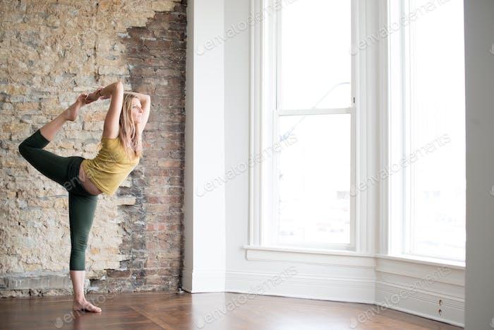 Yogi in yoga studio
