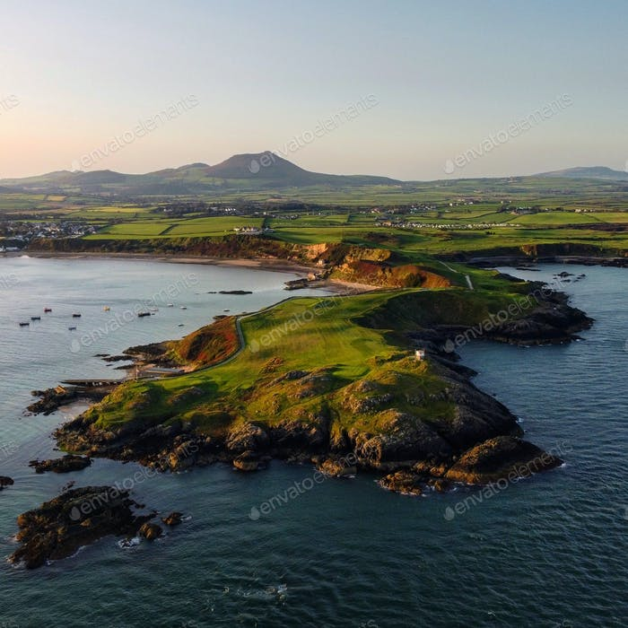 The beautiful views of Porthdinllaen in North Wales, UK