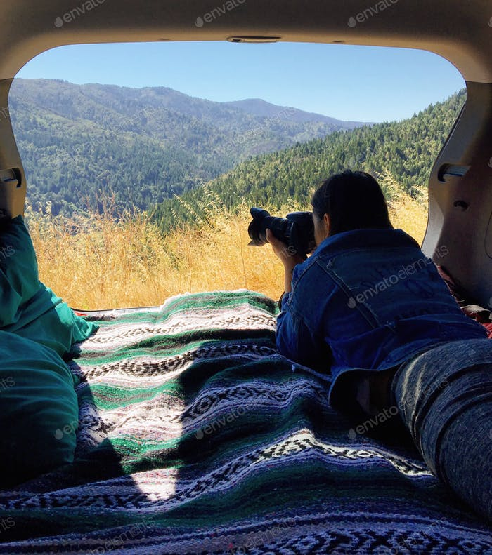 Car camping with views