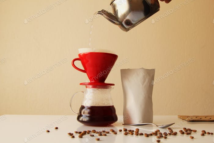Filter coffee concept