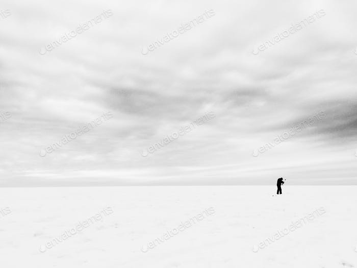 Ice fishing wilderness