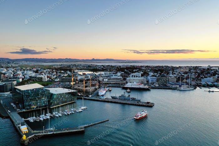 Reykjavik Harbor Sunset