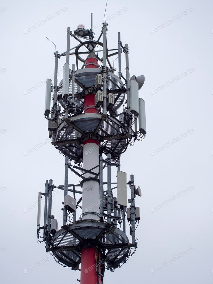 Huge and tall antenna for gsm operators and internet.