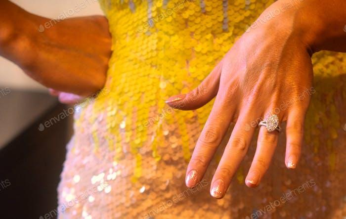 Verlobungsring - er schlug vor. Der Vorschlag