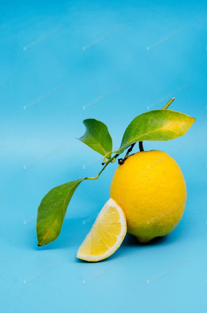 Lemon in blue