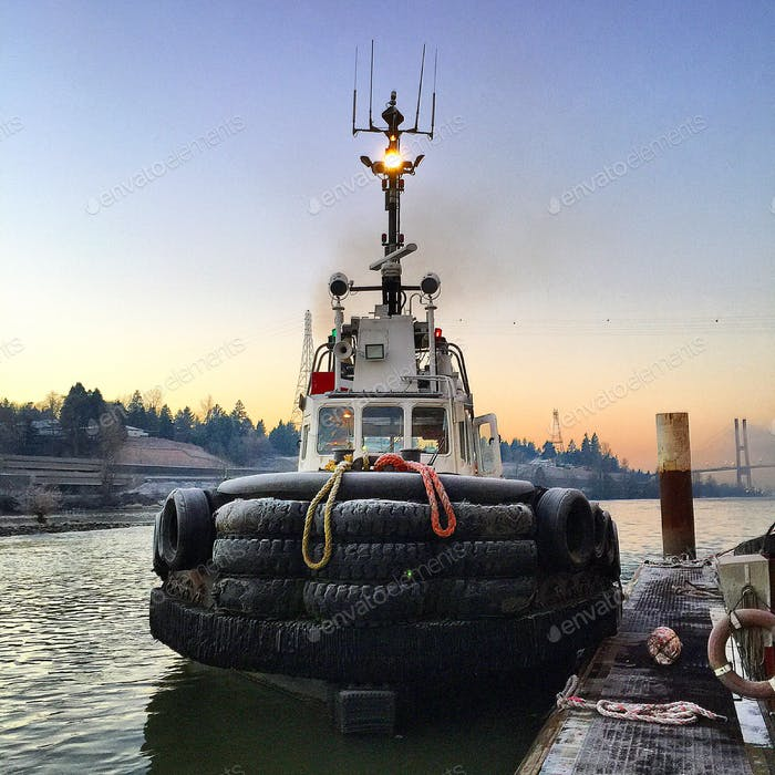 The tugboat Pacific Force's last day.