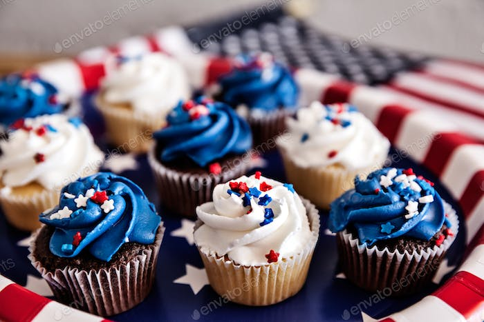 ☀️ NOMINATED!!! ☀️ Cupcakes For Fourth Of July Party, Celebration Concept
