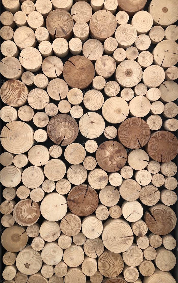 Trozos redondos de madera